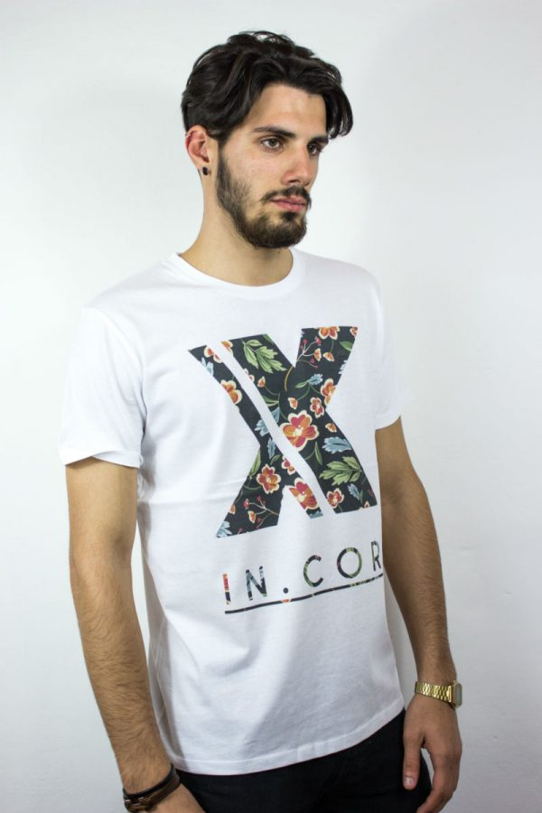T-shirt IN0005A INCOR LOGO FLORAL