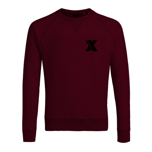 incor logo x burgundy