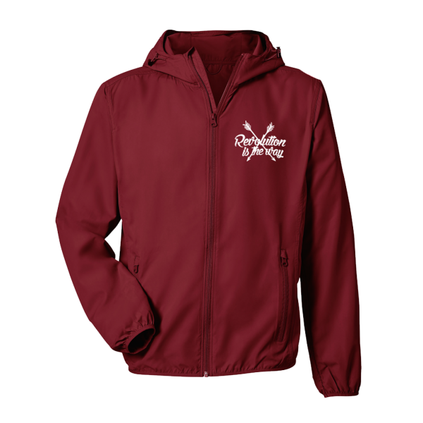incor light jacket burgundy