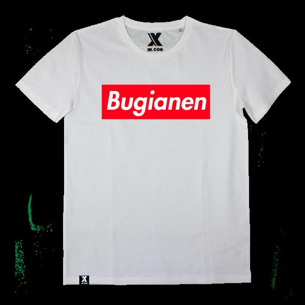 t-shirt bugianen white spurgato cuneo